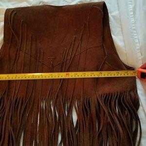 Jackets & Coats - Flash sale!!!! Vintage 100% Leather fringe vest